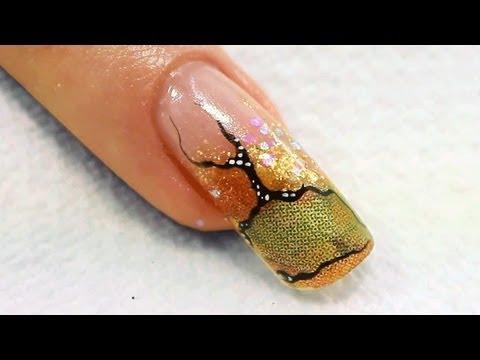 Napkin Acrylic Nail Art Tutorial Video by Naio Nails