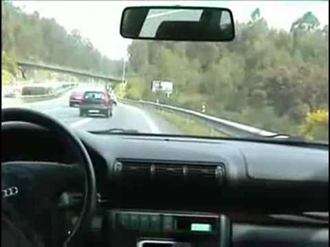 Audi A4 Loses control on some highway (Portugal if not mistaken)