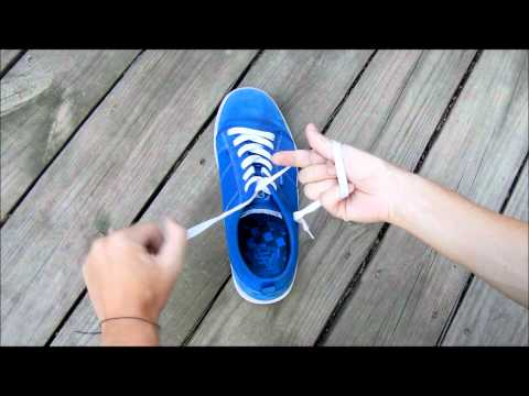 史上最快的綁鞋帶方式~只要兩秒!