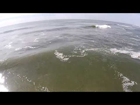 LBI Surfing Aerial Video filmed on May 2, 2014