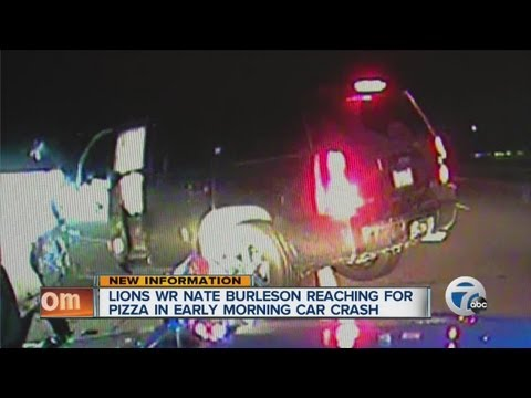 Lions Nate Burleson reaching pizza in early morning car crash