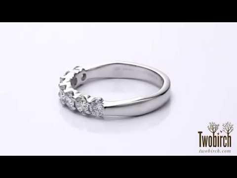 Gorgeous wedding band with pave stones, perfect for any occasion. By TwoBirch Sku # TB-WEDD-0102