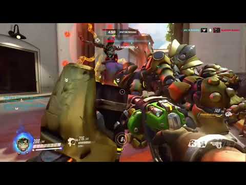 Overwatch Gameplay Segment! EPIC HOLD and awesome teamwork! Torbjorn!