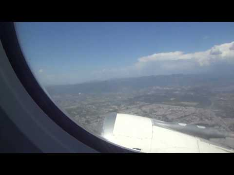 PIA A310 Takeoff from Islamabad Airport (ISB/OPRN), Aerial view of Faisal Mosque HD