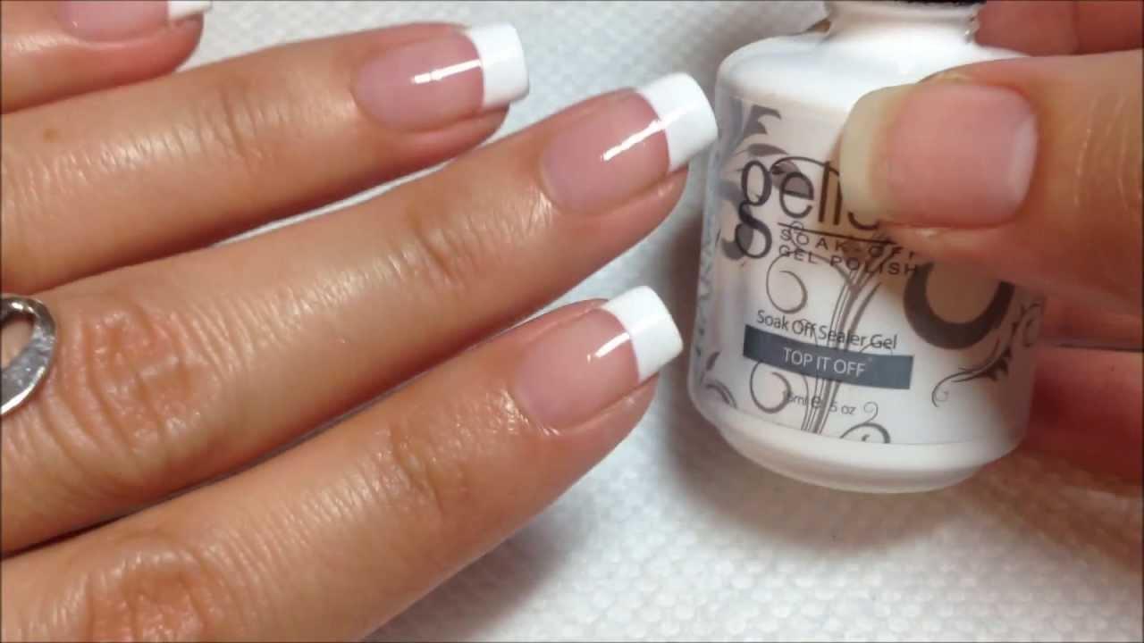 Gelish French Manicure - YouTube