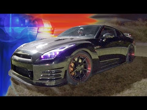800hp GTR gets PULLED OVER while STREET RACING!