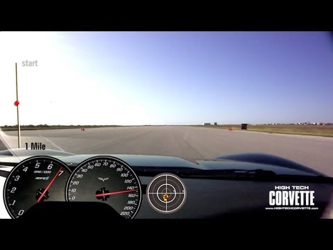 176mph Z06 ChaseCam View - Bartley Motorsports - Texas Mile