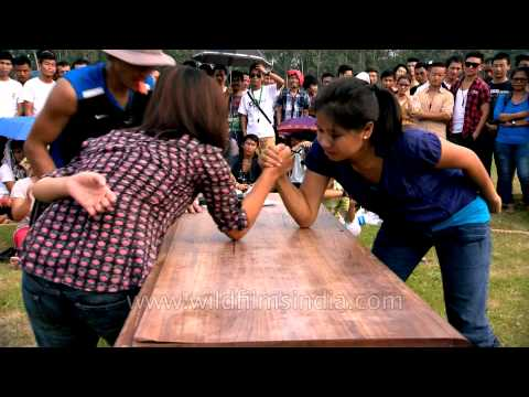 Beauty with strength - Naga women arm wrestlers