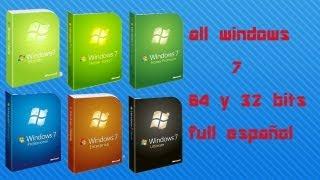 Windows 7 Full 2013 Español 1 Link 32 & 64 Bits Todas Las