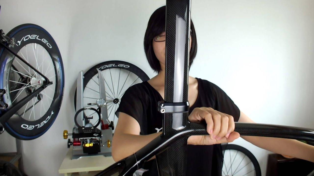 Bike Frame Size >> Yoeleo Carbon Disc Brake Road Bike Frame - Chinese Carbon Frame - YouTube