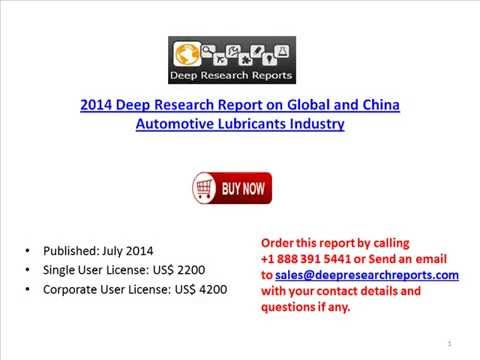 2014 Deep Research Report on Global and China Automotive Lubricants Industry