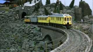 LGB Rhätische Bahn und Berninabahn im Modellbahnhof Stockheim