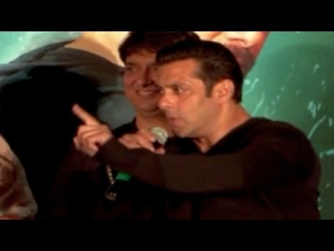 Salman Khan THREATENS journalist at Kick TRAILER LAUNCH