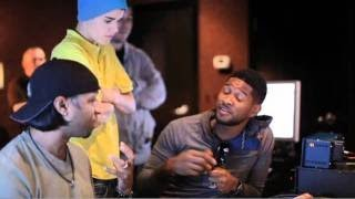 Under The Mistletoe Webisode - Usher and Justin in the Studio (The Christmas Song - Chestnuts)