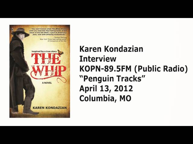 "Karen Kondazian on KOPN-89.5FM (Public Radio) ""Penguin Tracks"""