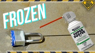 Can You Break A Lock With Canned Air? (Movie Mythbusting)