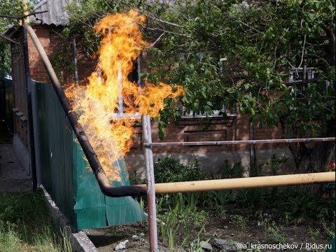 Артиллерия попала в газопровод. Славянск, 19 мая