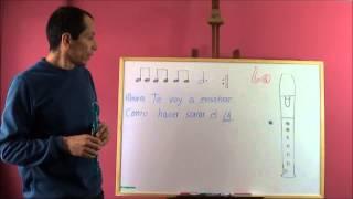Curso de flauta dulce. Lección 2