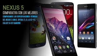 Nexus 5 Vs Sony Xperia Z1 Vs Samsung Galaxy S4 Vs LG G2