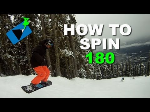How to FRONTSIDE 180 - Snowboard Tricks Series 1.1