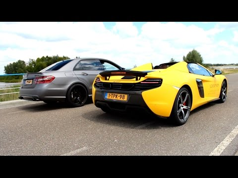 McLaren 650S vs Mercedes-Benz E63 AMG iPE - Rev Battle!