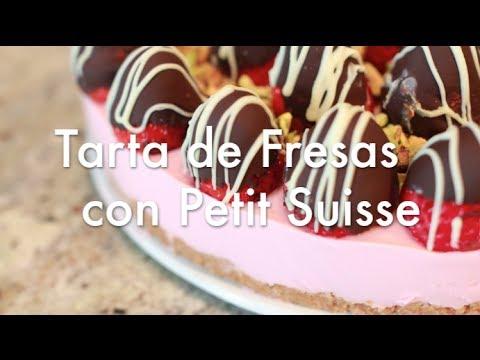 Tarta de Fresas con Petit Suisse - Recetas de Tartas