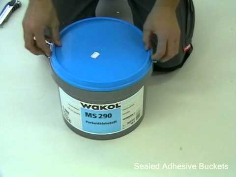 How to open sealed adhesive buckets