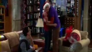 "The Big Bang Theory "" Sheldon Hugs Penny"" ""Merry"