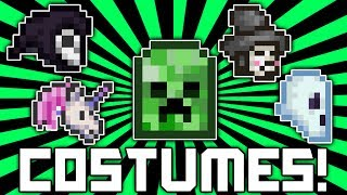 Terraria 1.2.1: How To Get ALL Costumes! (Creeper Costume