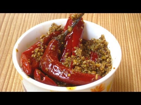 Pickle Recipe by Sonia Goyal - Red Pepper Pickle Recipe in English