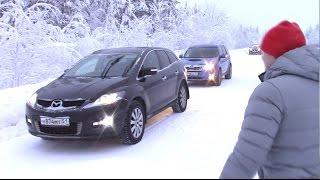 Зимний старт Forester vs Mazda CX-7. Миша Яковлев