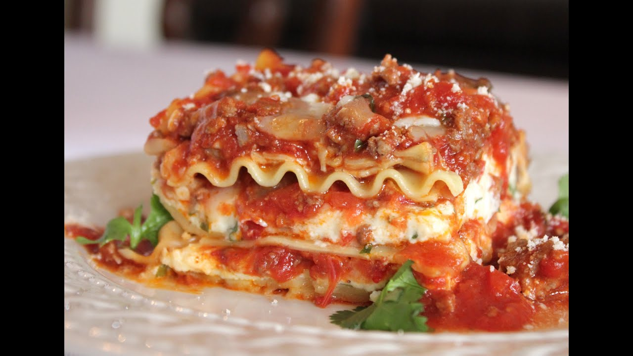 The Best Meat Lasagna Recipe -- How to Make Homemade ...