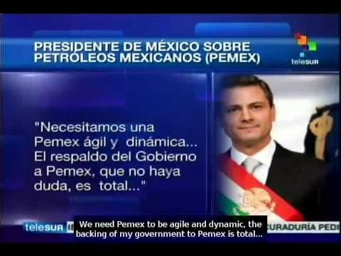 Mexico: Peña Nieto reaffirms full support to Pemex