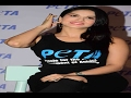 Sunny Leon launches PETA vegetarian campaign..