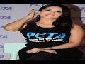 Sunny Leon launches PETA vegetarian campaign..