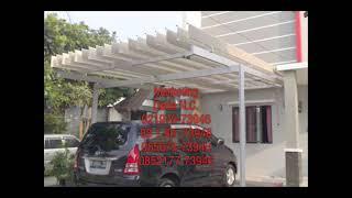 Atap Buka Tutup Aluminium Sunlouvre, Atap Canopy Aluminium