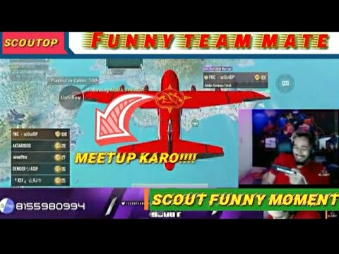 Scout Funny Team Mate | Fnatic Scout Playing with Random squad | scout funny moment