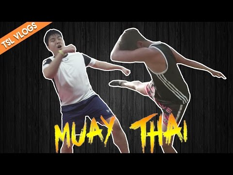 GETTING OUR BUTTS KICKED IN MUAY THAI | TSL Vlogs | EP 42