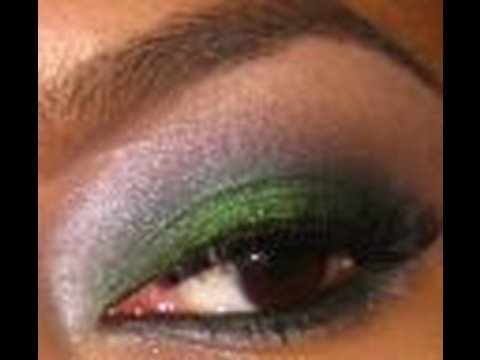 Emerald Green Holiday look. makeup tutorial