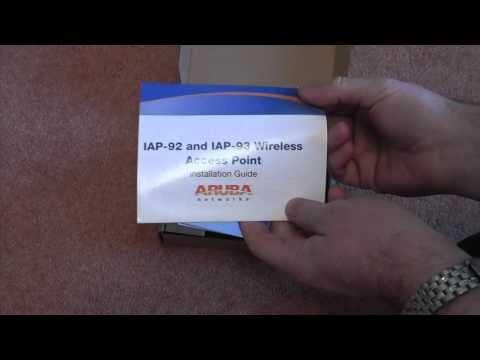 ARUBA INSTANT AP93 WIRELESS ACCESS POINT UNBOXING