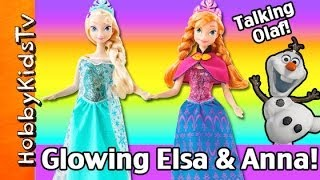 NEW Disney Musical Glowing Elsa, Anna Barbie Dolls