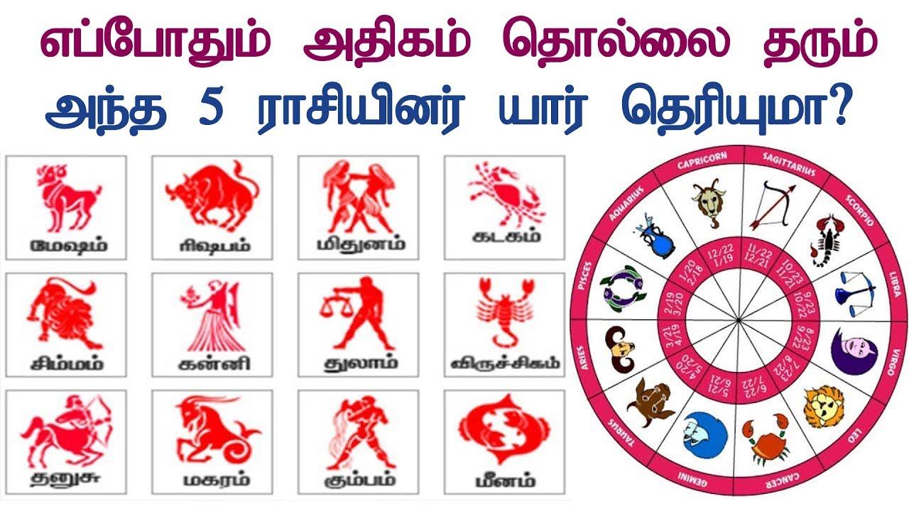 எப்போதும் அதிகம் தொல்லை தரும் அந்த 5 ராசியினர் யார் தெரியுமா?   Tamil Jothidam   Tamil Astrology
