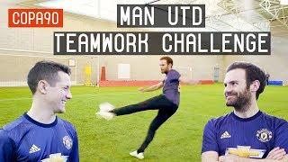 Mata vs Herrera - Manchester United Teamwork Challenge