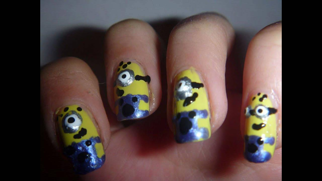 Uñas de Minions - fotos y tutorial   decoraciondeunas.es