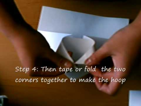 How to make a paper basketball hoop youtube for How to build a basketball goal