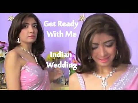 Get Ready With Me - Indian Wedding/Party | Indian Makeup, Pink Saree, OOTD, Smokey Cut Crease
