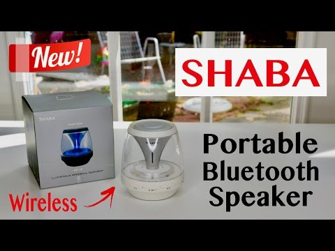 😍 SHABA  Portable Wireless Bluetooth Speaker with LED Lights! - Review ✅