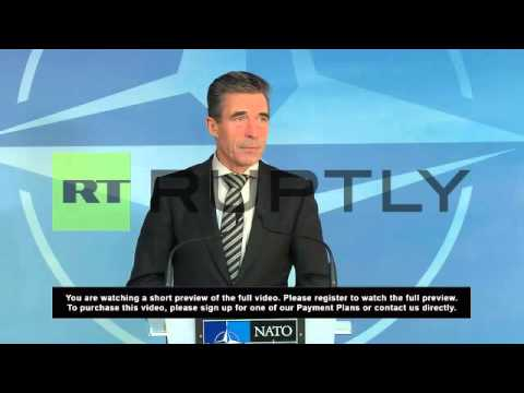 Belgium: NATO allies stand together in Ukraine crisis - Rasmussen