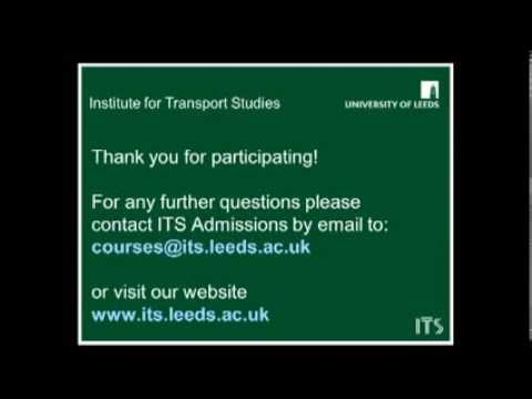 Masters in Transport: webinar on admissions and scholarships
