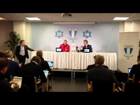 Presskonferens efter Malmö FF - Falkenberg 3-0
